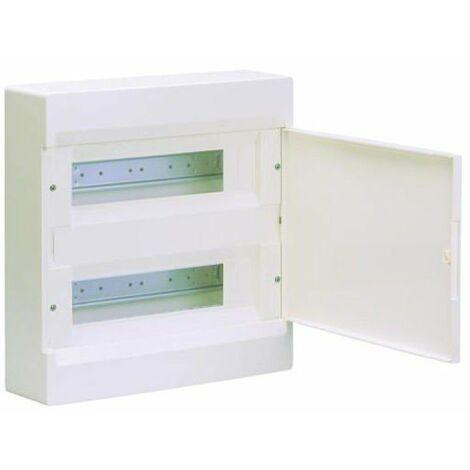 Caja automáticos superficie Hager 24 módulos VD212NE C/Puerta