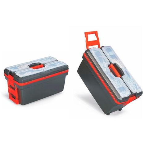 Caja baúl con ruedas para herramientas