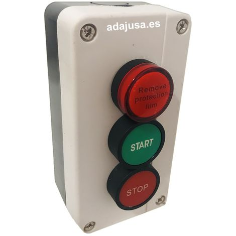 Caja botonera Piloto-Start-Stop completa