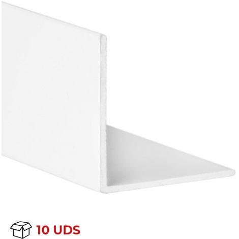 """main image of """"Caja con 10 perfiles angular con lados iguales de aluminio, acabado en blanco y 1 m de largo . Ref. 9000.1010.01"""""""