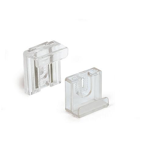"""main image of """"Caja con 25 pinzas para sujeción de espejos, con estilo funcional, fabricada en plástico y con acabado transparente"""""""
