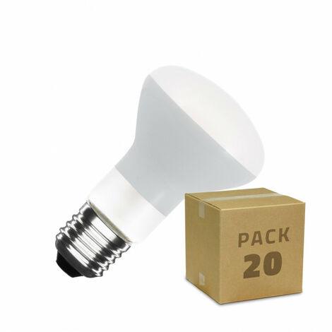 Caja de 20 Bombillas LED E27 Casquillo Gordo Regulable Filamento R63 Frost 4W Blanco Cálido