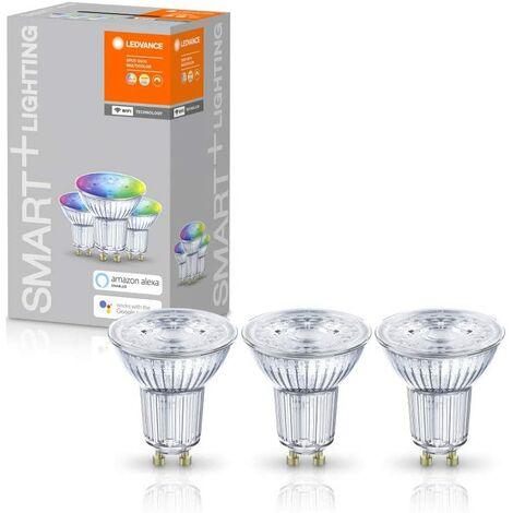 Caja de 3 Bombilla LED Smart 5W GU10 RGB Multicolor WIFI LEDVANCE