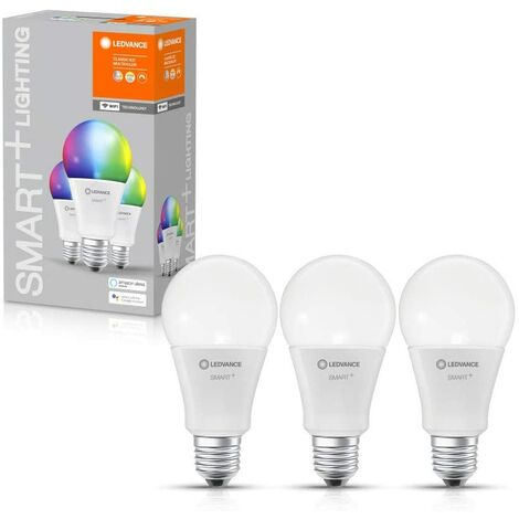 Caja de 3 Bombillas LED Smart Estandar 14W E27 Multicolor WIFI LEDVANCE