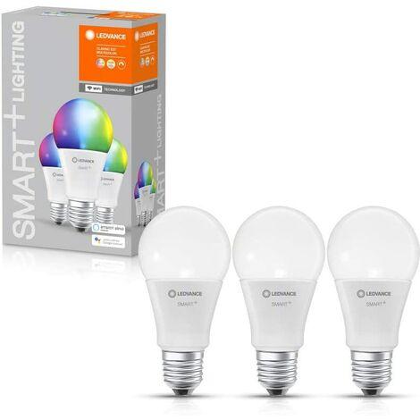 Caja de 3 bombillas LED Smart Estandar 9W E27 Multicolor WIFI LEDVANCE