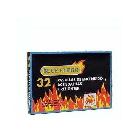 Caja de 32 pastillas de encendido BLUE FUEGO para chimeneas, estufas, barbacoas,,,