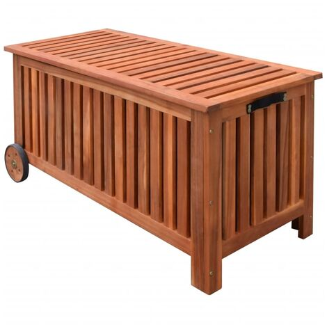 Caja de almacenaje de jardín de madera 118x52x58 cm