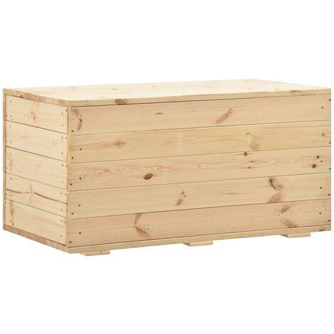 Caja de almacenaje de madera maciza de pino 100x54x50,7 cm