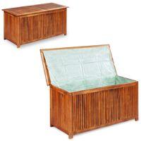 Caja de almacenaje jardín madera maciza acacia XL 150x50x58 cm