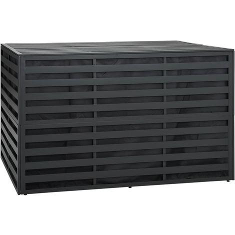 Caja de almacenaje jardin ratan PE antracita 150x100x100 cm