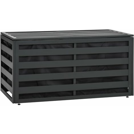 Caja de almacenaje jardín ratán sintético antracita 100x50x50cm - Antracita