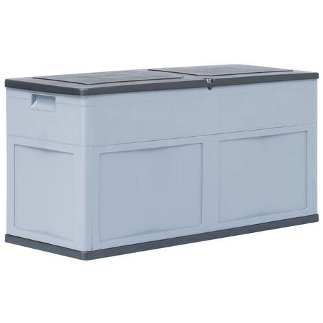 Caja de almacenamiento 320 L gris y negro