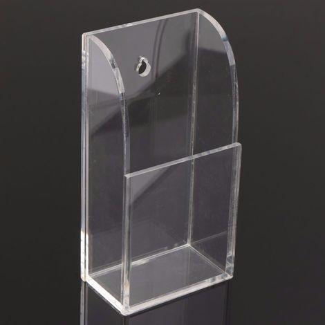 Caja de almacenamiento de control remoto de pared de acrílico 7x4.2x14cm