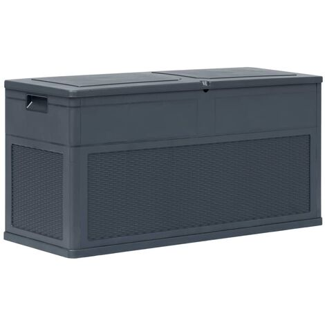 Caja de almacenamiento de jardín 320 L gris antracita