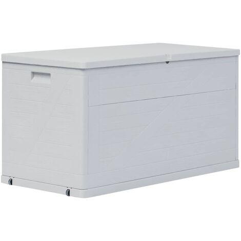 Caja de almacenamiento de jardín 420 L gris claro