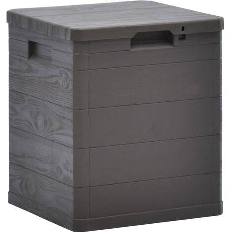 Caja de almacenamiento de jardín 90 L marrón