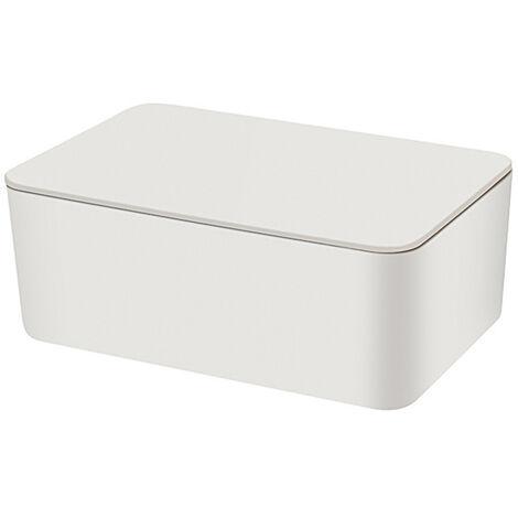 Caja de almacenamiento de mascarilla desechable Funda abatible a prueba de polvo Caja de mascarilla Funda de tejido humedo con tapa Portatil para trabajo en casa al aire libre