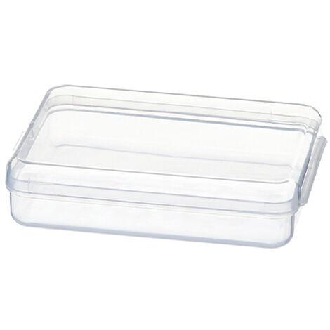 Caja de almacenamiento de mascarillas desechables Estuche de mascarilla facial de escritorio transparente portatil con tapa, L
