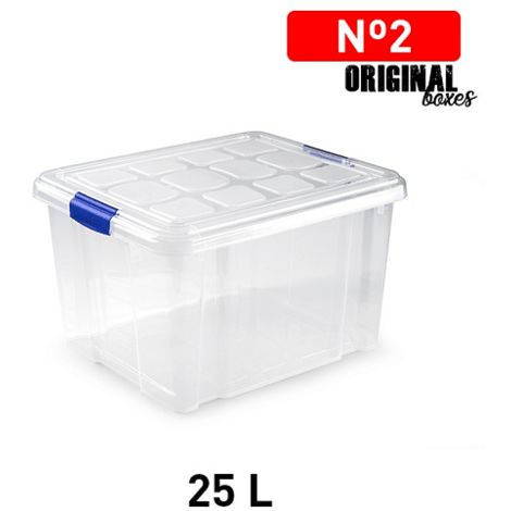 Caja de almacenamiento N2 sin ruedas 25 Litros Transparente