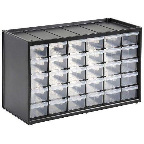 Caja de almacenamiento para piezas con 30 cajones
