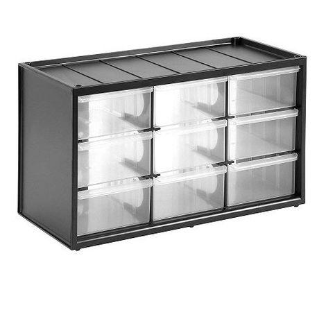 Caja de almacenamiento para piezas con 9 cajones