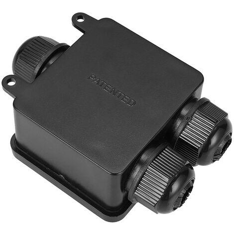 Caja de conexiones electricas externas, conector del cable de alimentacion