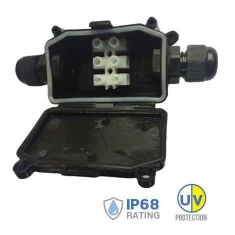 Caja de conexiones estanca para exterior IP65 Blanco