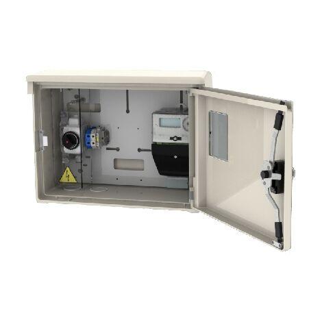 Caja de contador eléctrico homologada con tejadillo (CLAVED AC80188)