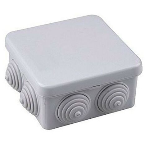 Caja de empalme gris estanca 80x80x40mm IP54