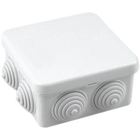 Caja de empalme gris estanca Cuadrada 80x80x40mm IP54