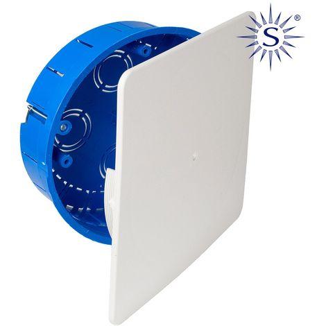 Caja de empalme para empotrar en tabiques huecos ø150 x 46