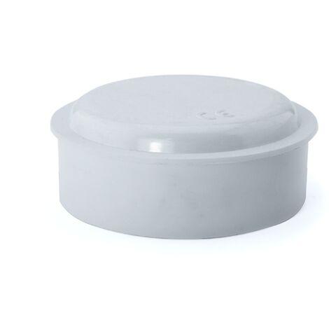 Caja de empalme superficie blanca redonda Ø109x41