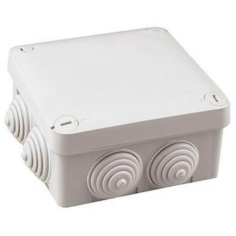 Caja de empalme superficie gris estanca 105x105x40mm IP54