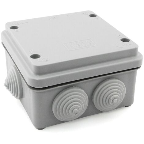 Caja de empalme superficie gris estanca 105x105x65mm IP55