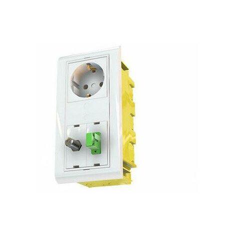 Caja de empotrar en canaletas mecanizable 2 módulos 45x45