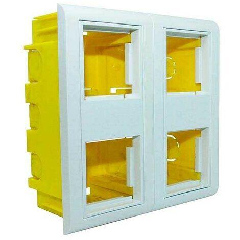 Caja de empotrar en canaletas mecanizable 4 módulos 45x45