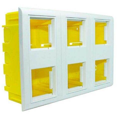 Caja de empotrar en canaletas mecanizable 6 módulos 45x45