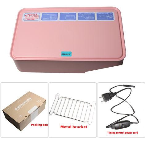 Caja de esterilizacion UV para el hogar, caja de desinfeccion con luz LED UV,Rosa