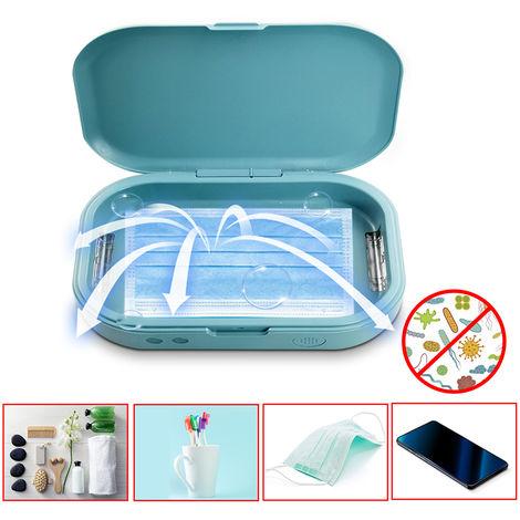 Caja de esterilizador UV, Caja de desinfeccion con luz LED UV,blanco