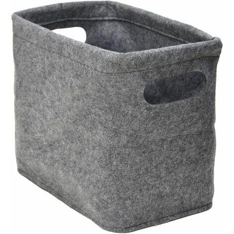Caja de fieltro de almacenamiento de papel higiénico para 4 rollos cesta gris