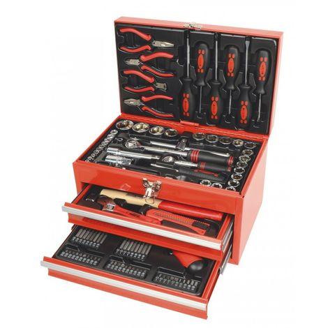 Caja de Herramientas de 155 Piezas Bricolaje Taller Mannesmann M29066