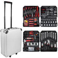 Caja de Herramientas, Kit de Herramientas Completo, 251 herramientas, con caja de aluminio y mango telescópico, Material: Acero carbono