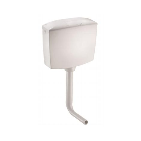 Caja de inodoro de doble descarga Smeraldo OL0407201 | Blanco