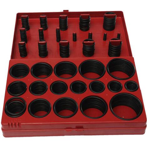 Caja de juntas tóricas métricas 419 piezas 32 tamaños de goma O anillo de sellado Herramienta de plomada Garaje Atelier Mohoo