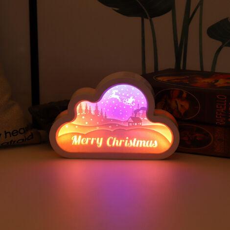 "main image of ""Caja de luz 3D Papercut, Luz nocturna de talla de papel, Lampara de escritorio"""