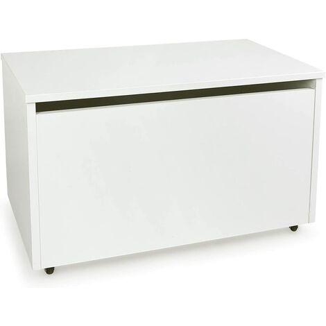 Caja de madera blanca móvil XXL