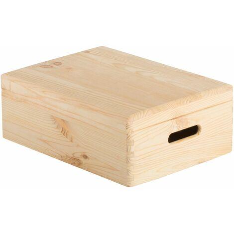 Caja de madera con tapa 40x30x14