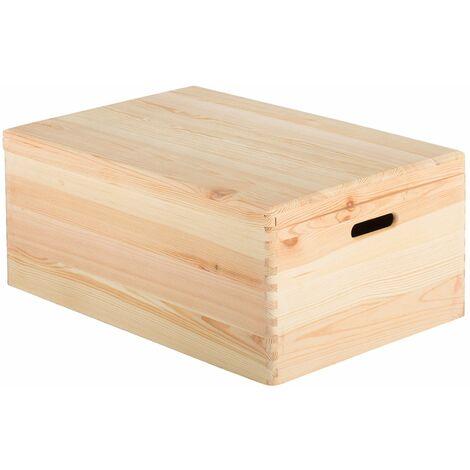 Caja de madera con tapa 60x40x23
