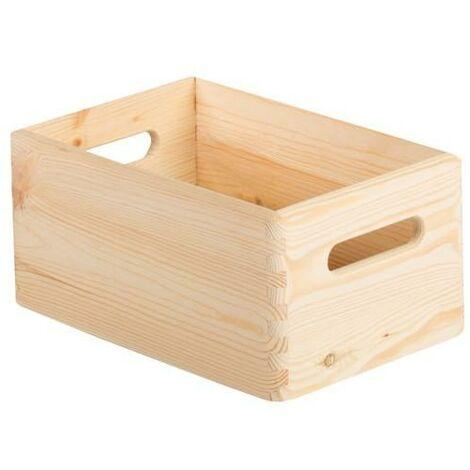 Caja de madera con y sin tapa