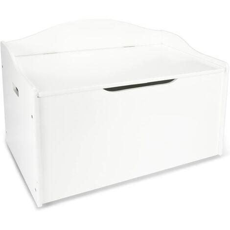 Caja de madera para juguetes XL: Blanco